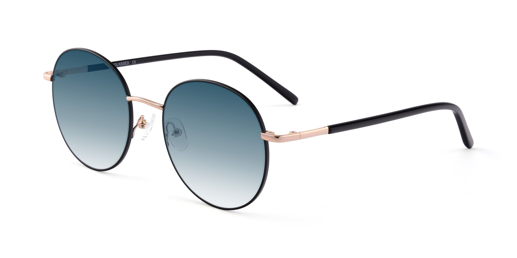 Angle of Cosmos in Black-Gold with Blue Gradient Lenses