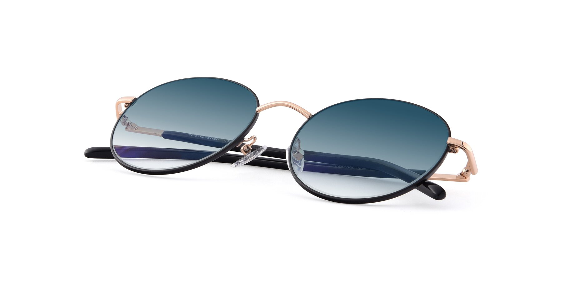 View of Cosmos in Black-Gold with Blue Gradient Lenses
