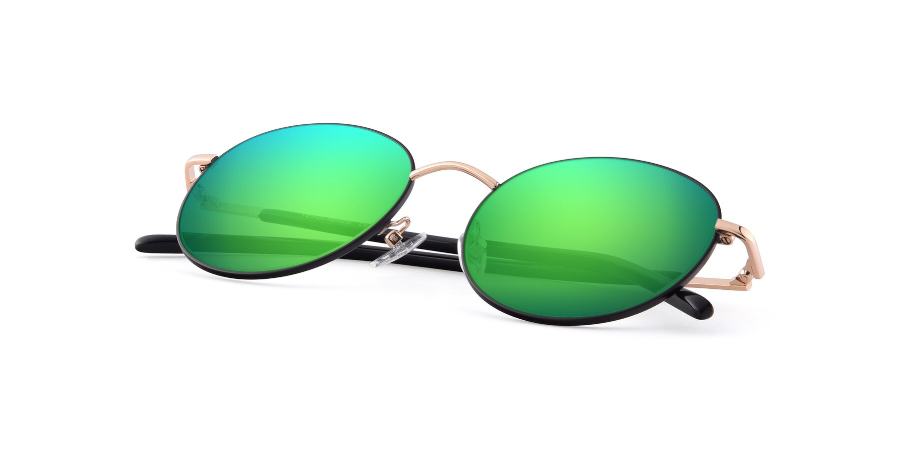 View of Cosmos in Black-Gold with Green Mirrored Lenses