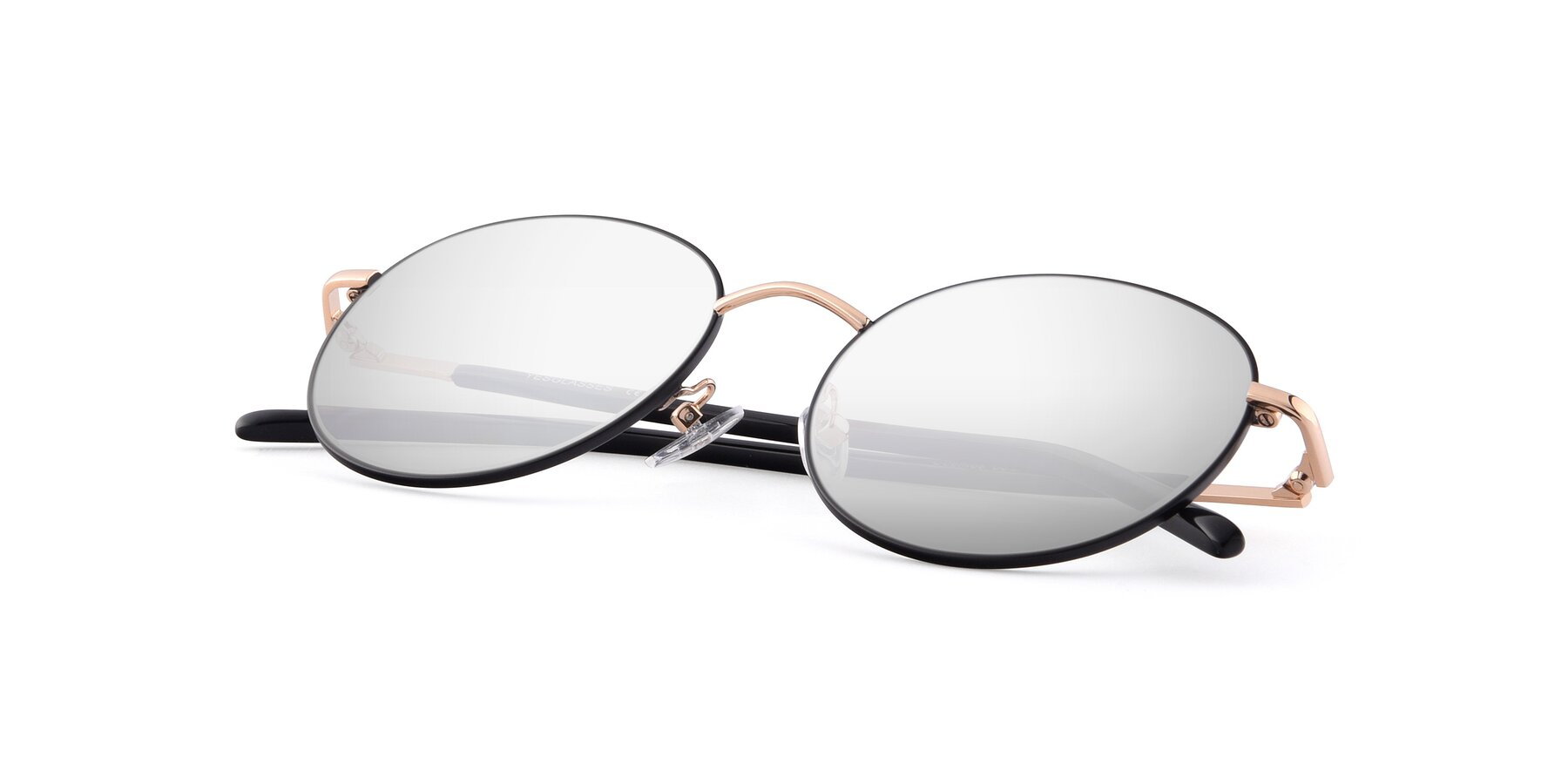 View of Cosmos in Black-Gold with Silver Mirrored Lenses