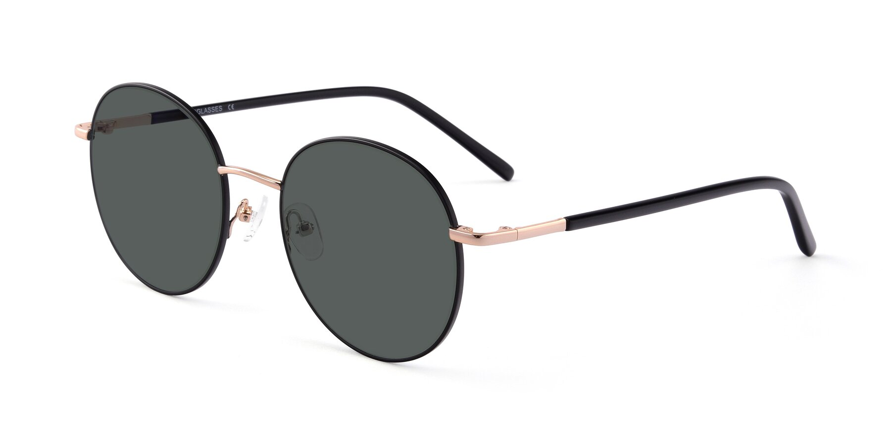 Angle of Cosmos in Black-Gold with Gray Polarized Lenses