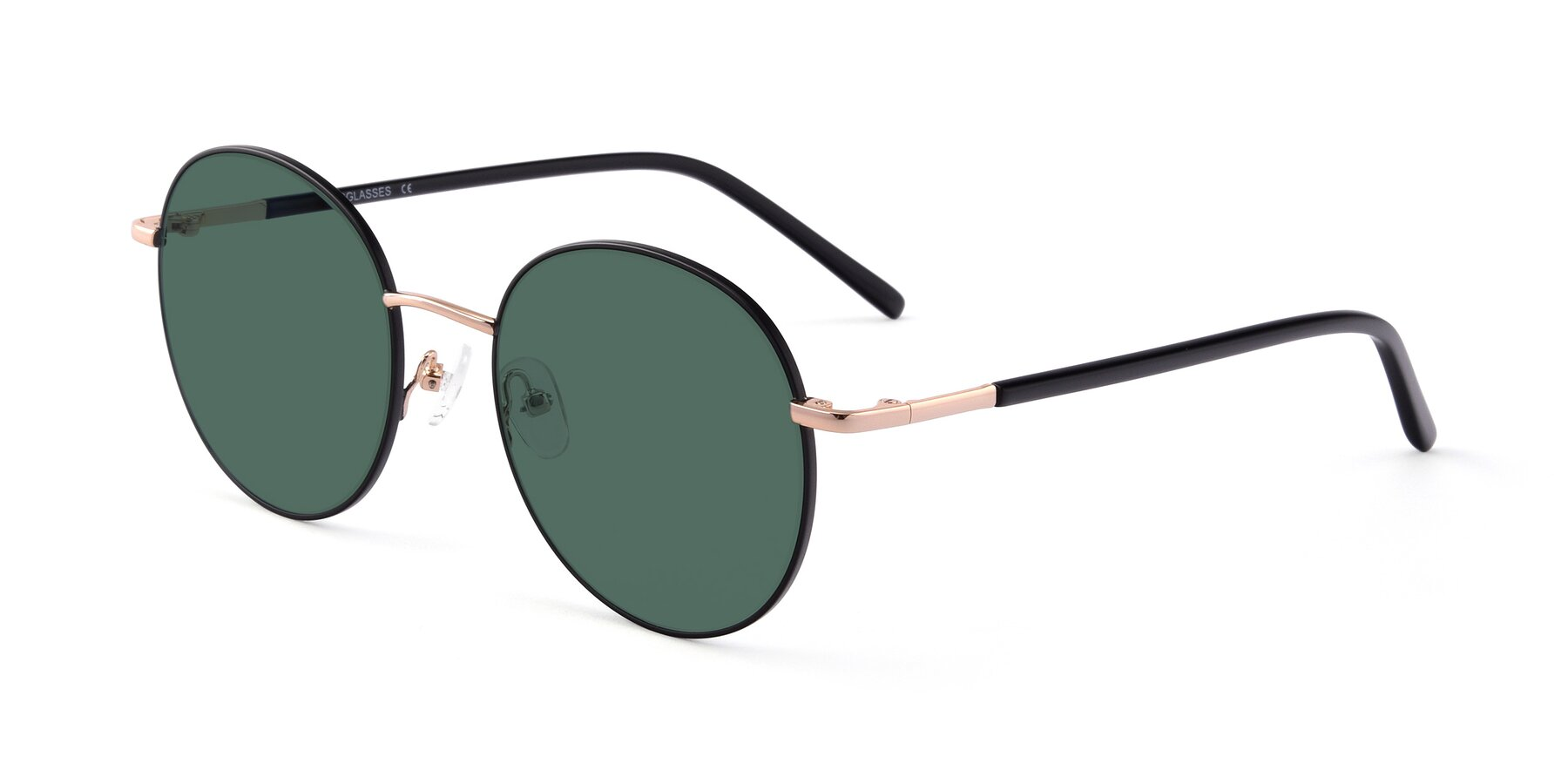 Angle of Cosmos in Black-Gold with Green Polarized Lenses