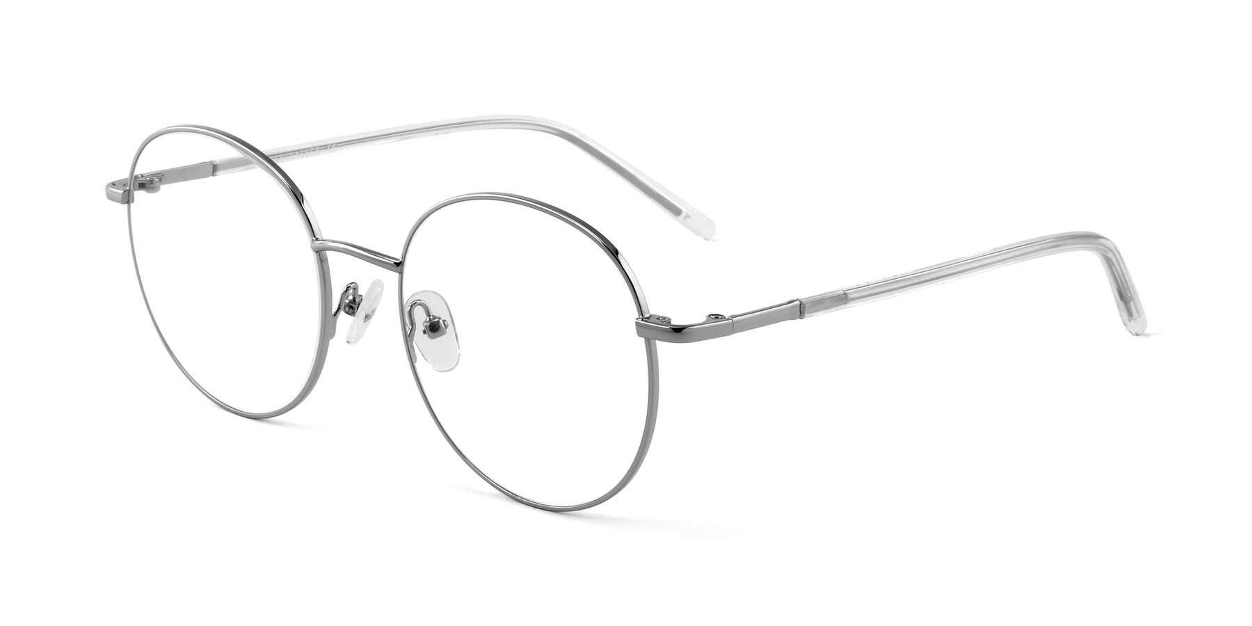 Angle of Cosmos in Silver with Clear Blue Light Blocking Lenses