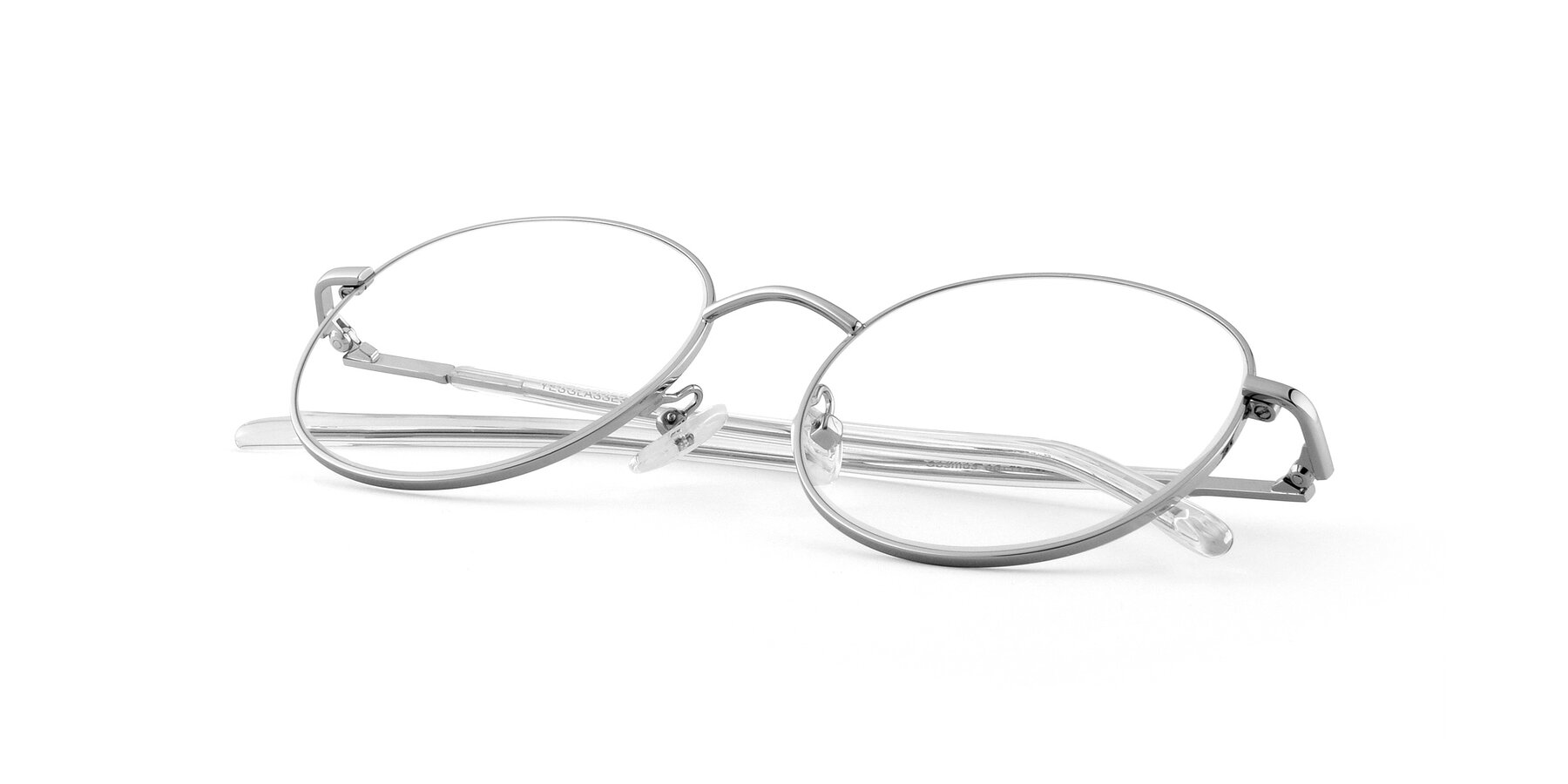 View of Cosmos in Silver with Clear Eyeglass Lenses