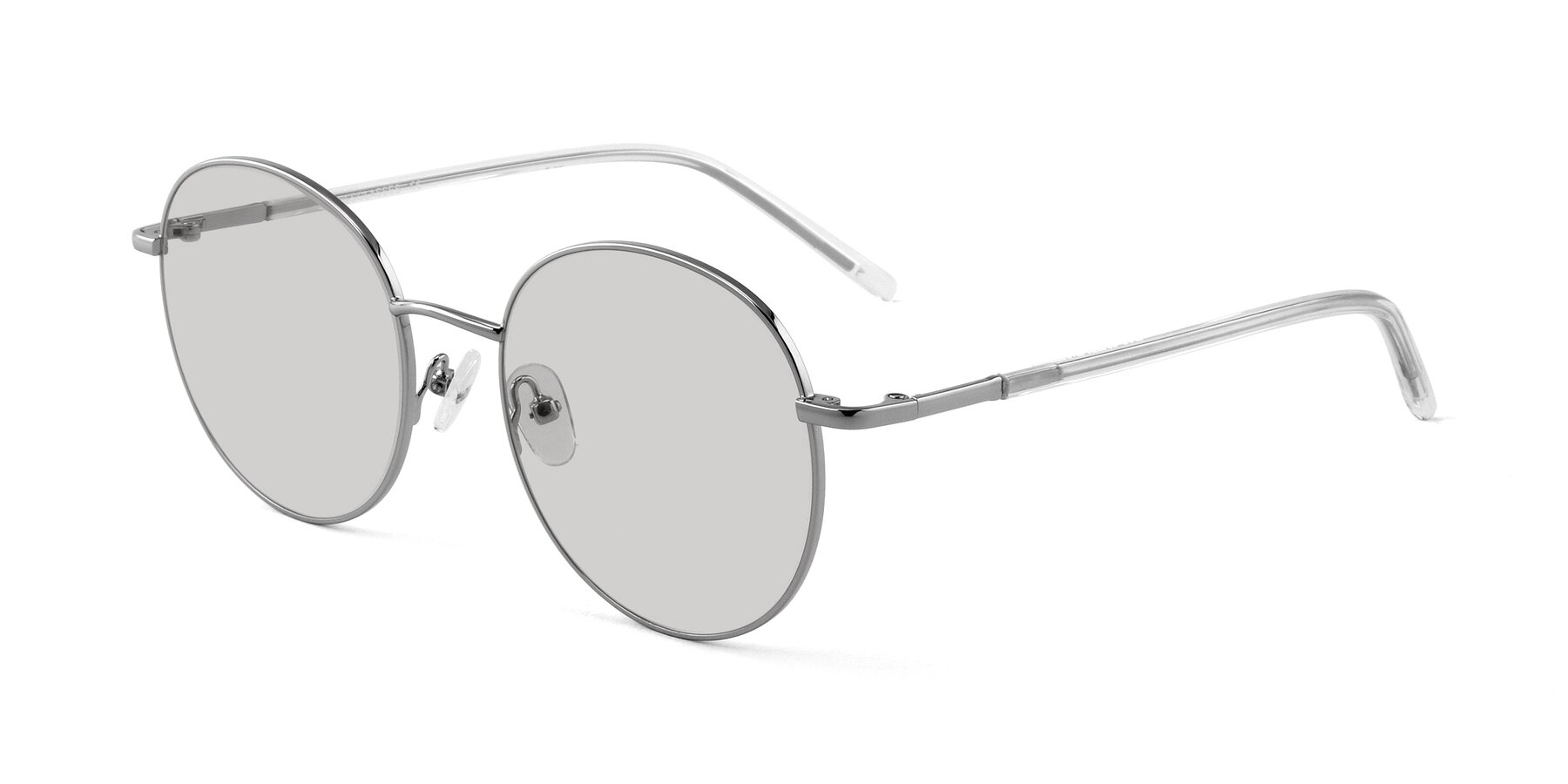 Angle of Cosmos in Silver with Light Gray Tinted Lenses