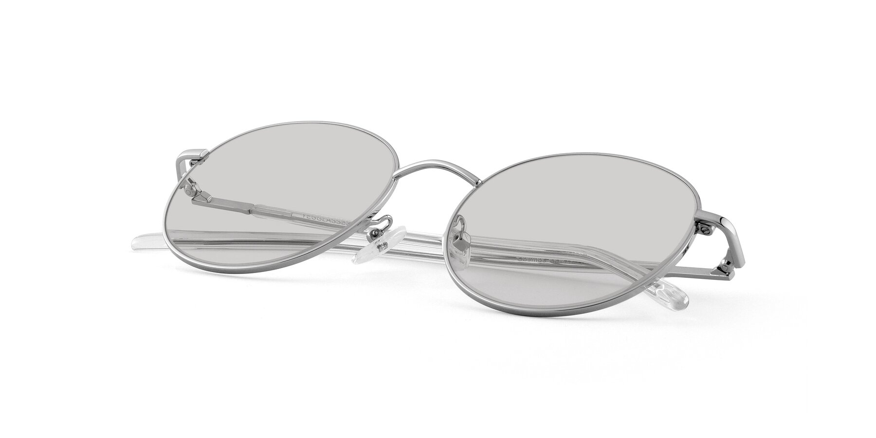 View of Cosmos in Silver with Light Gray Tinted Lenses