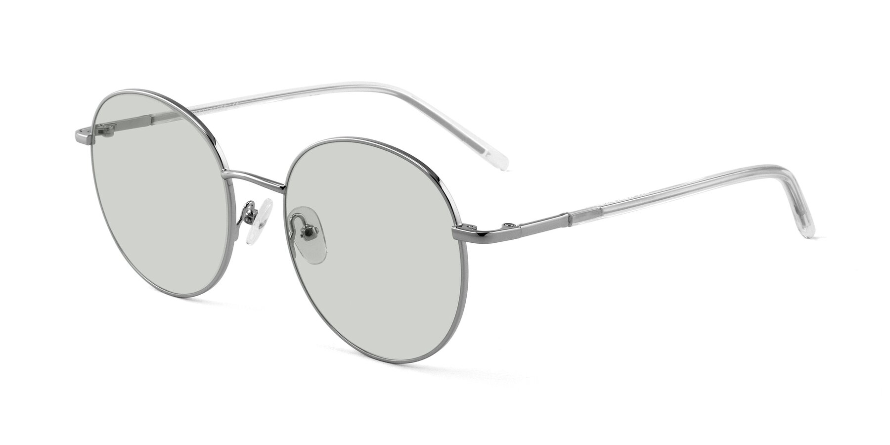 Angle of Cosmos in Silver with Light Green Tinted Lenses