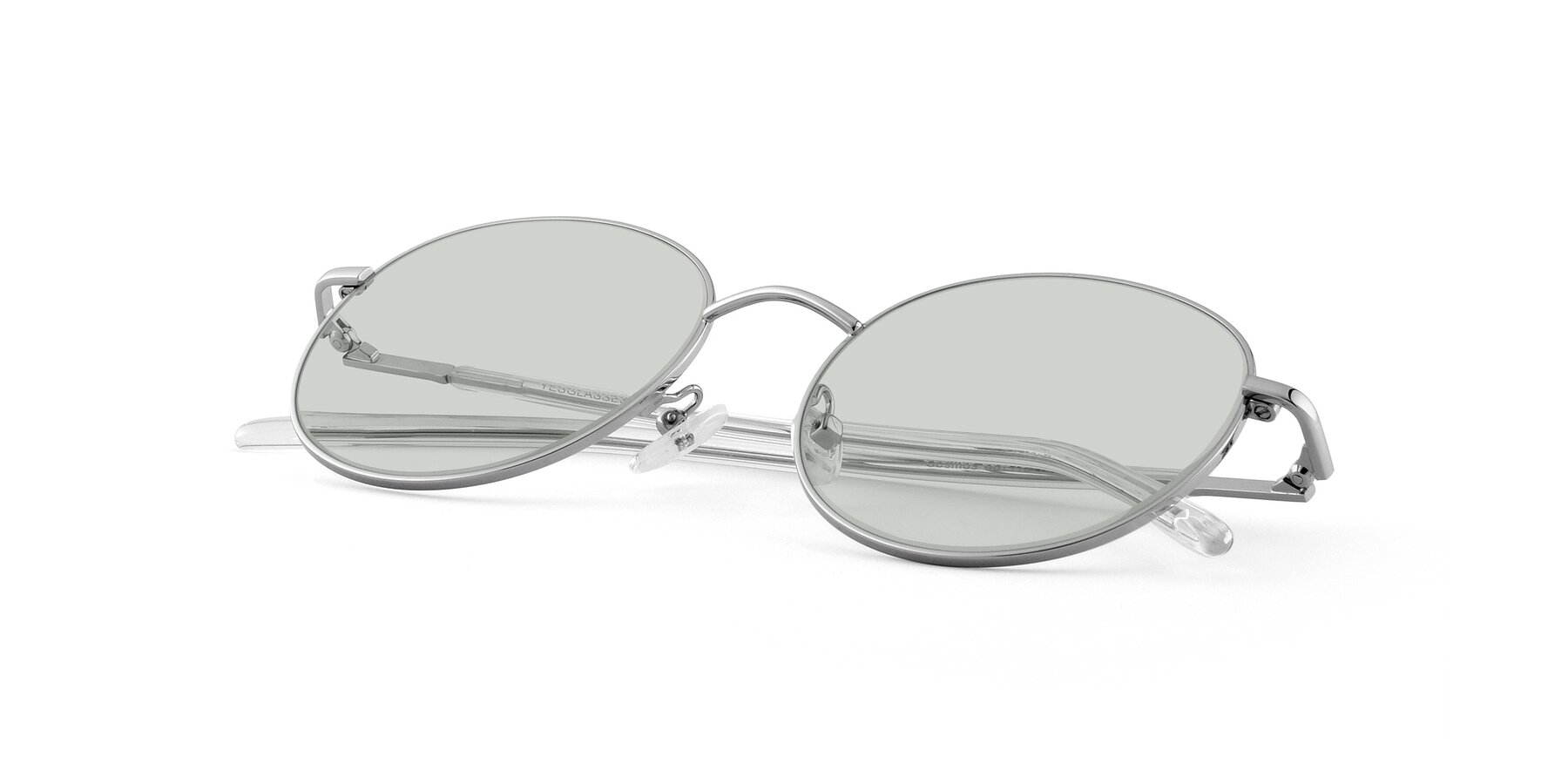 View of Cosmos in Silver with Light Green Tinted Lenses