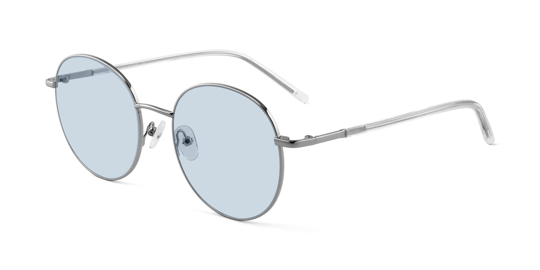 Angle of Cosmos in Silver with Light Blue Tinted Lenses