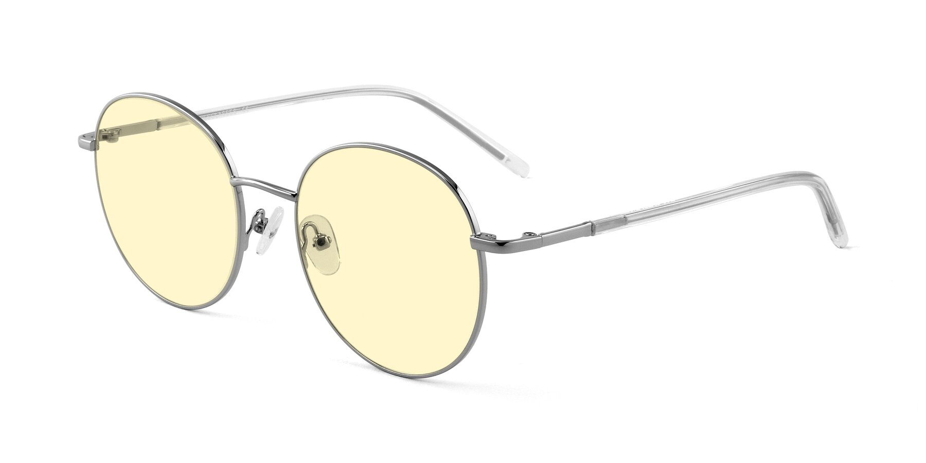 Angle of Cosmos in Silver with Light Yellow Tinted Lenses
