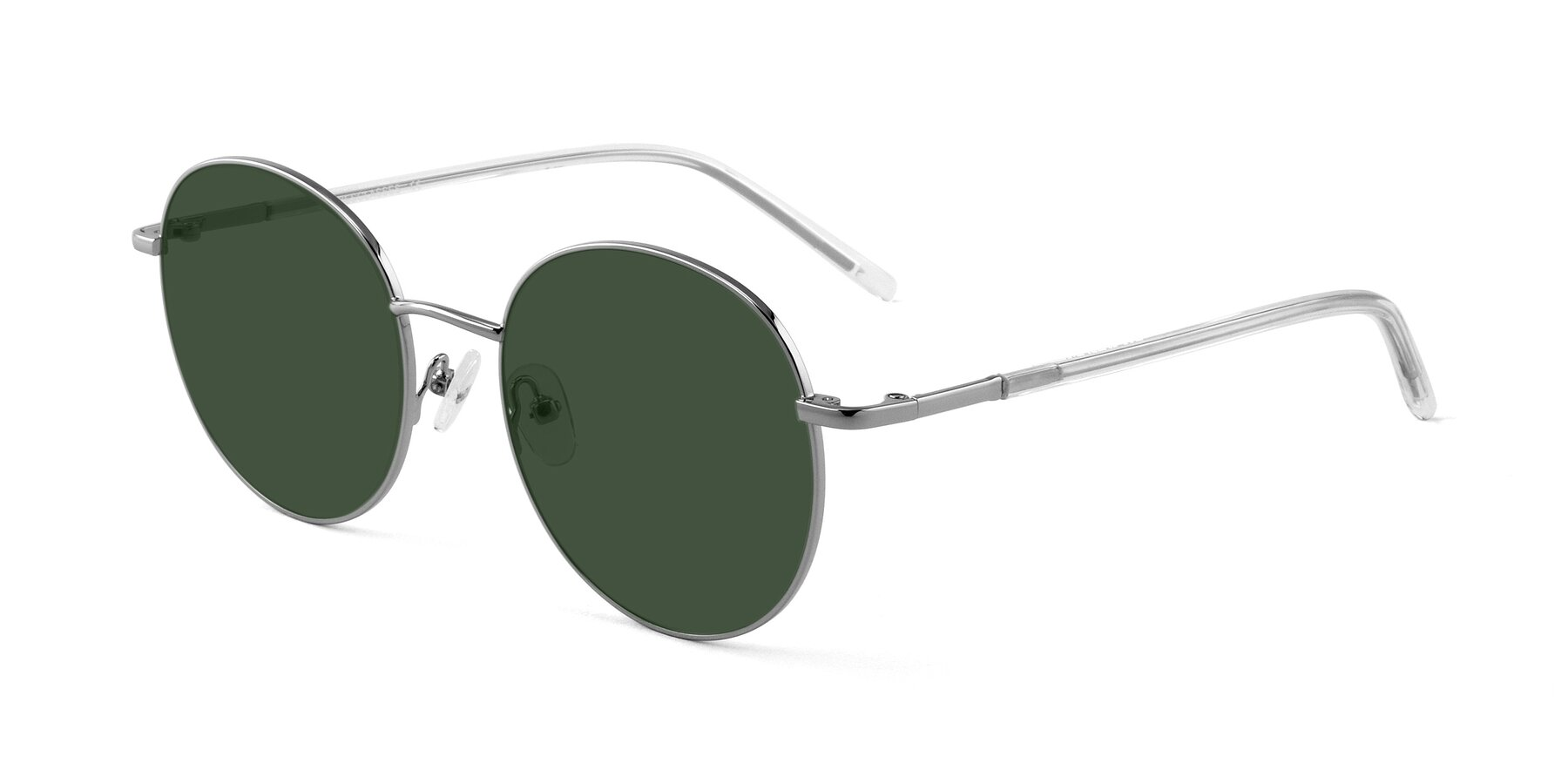 Angle of Cosmos in Silver with Green Tinted Lenses