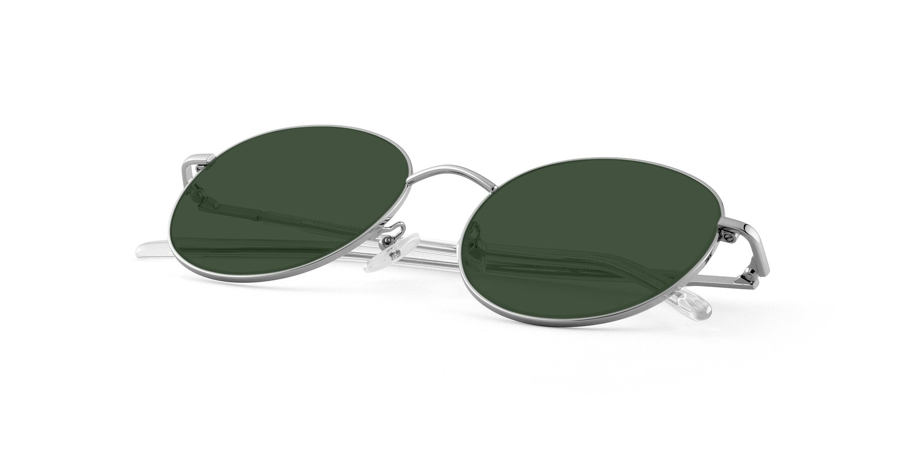 View of Cosmos in Silver with Green Tinted Lenses