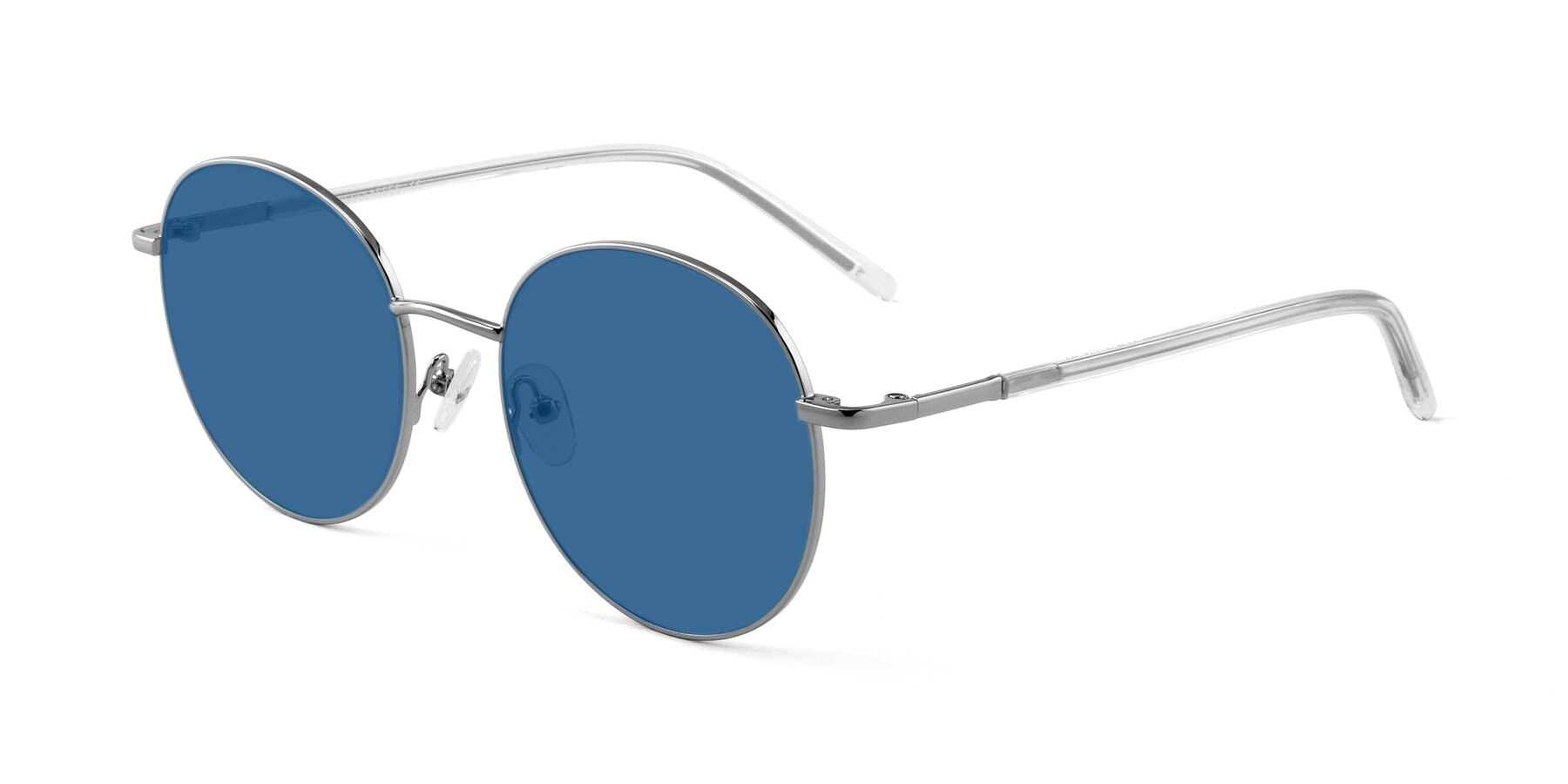 Angle of Cosmos in Silver with Blue Tinted Lenses