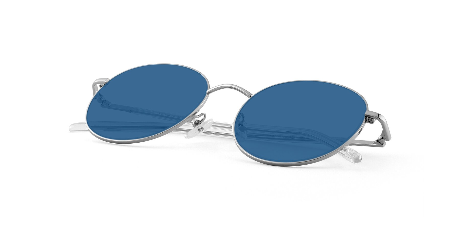 View of Cosmos in Silver with Blue Tinted Lenses