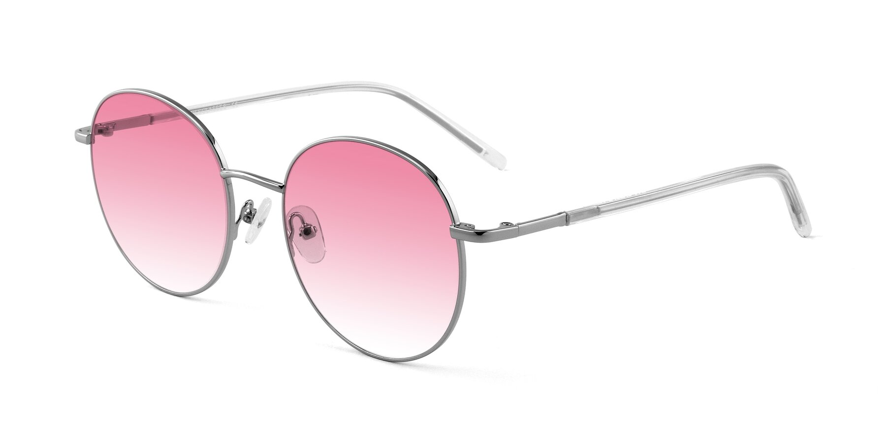 Angle of Cosmos in Silver with Pink Gradient Lenses