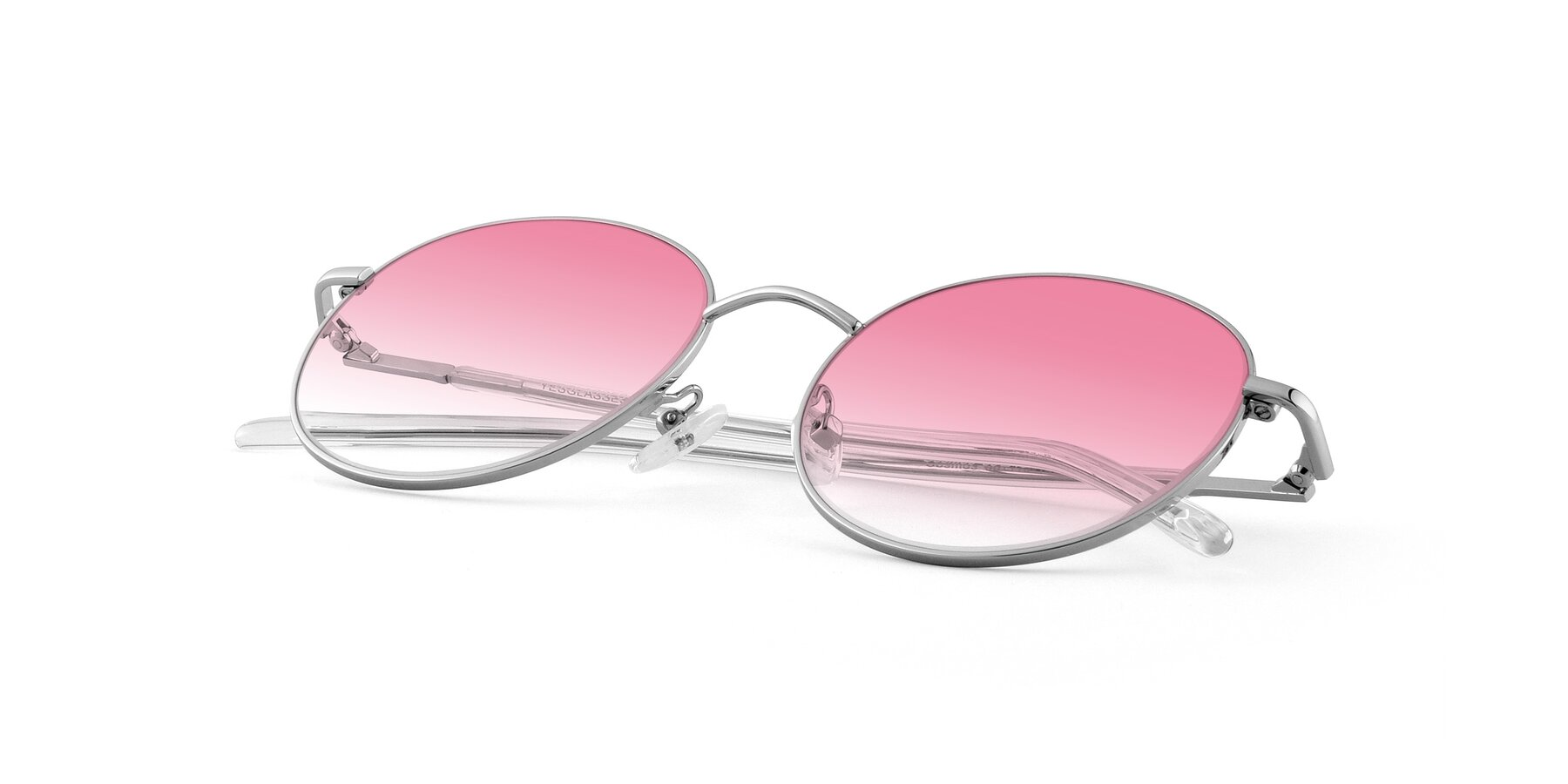 View of Cosmos in Silver with Pink Gradient Lenses