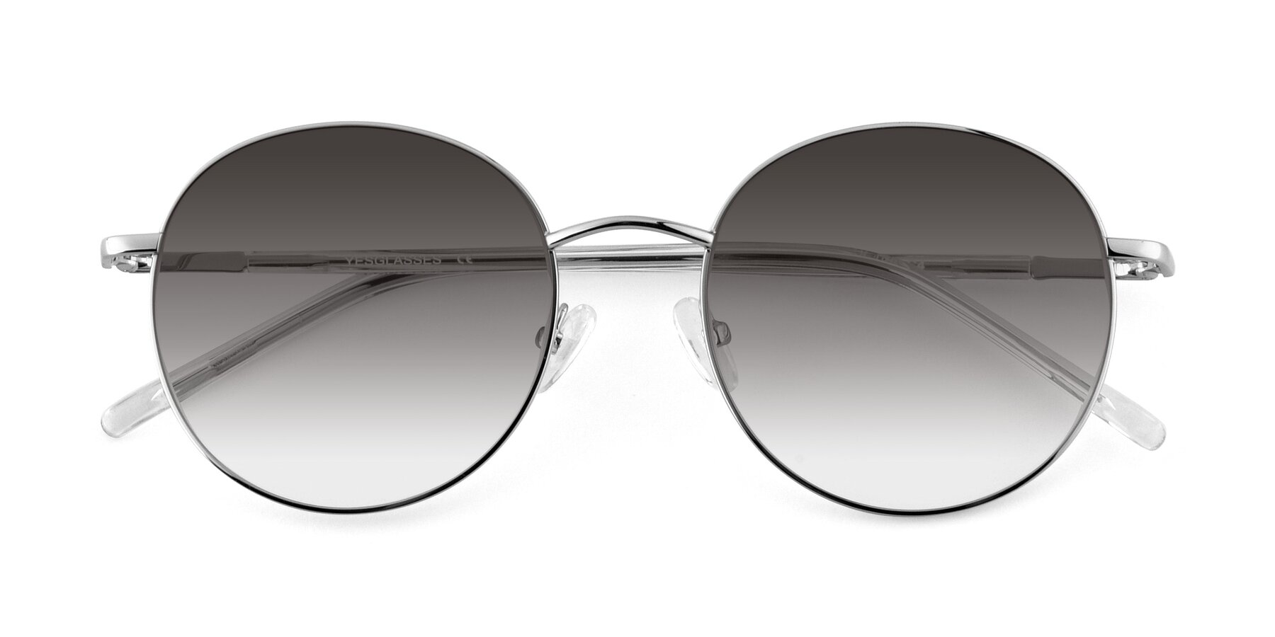 Folded Front of Cosmos in Silver with Gray Gradient Lenses