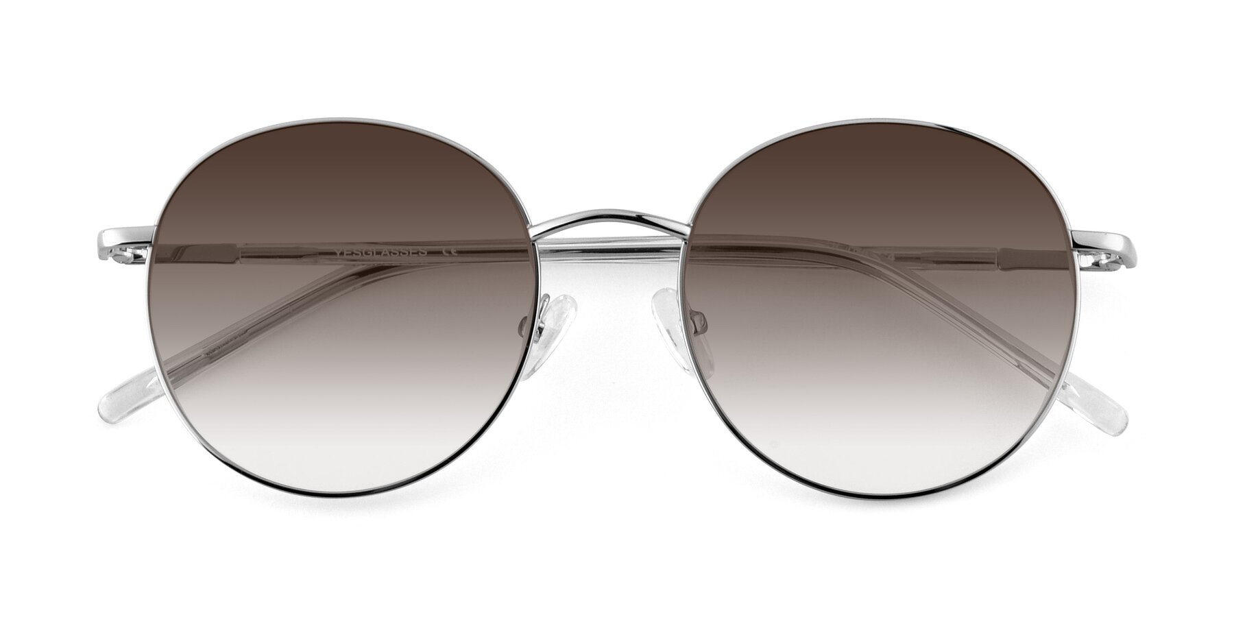 Folded Front of Cosmos in Silver with Brown Gradient Lenses