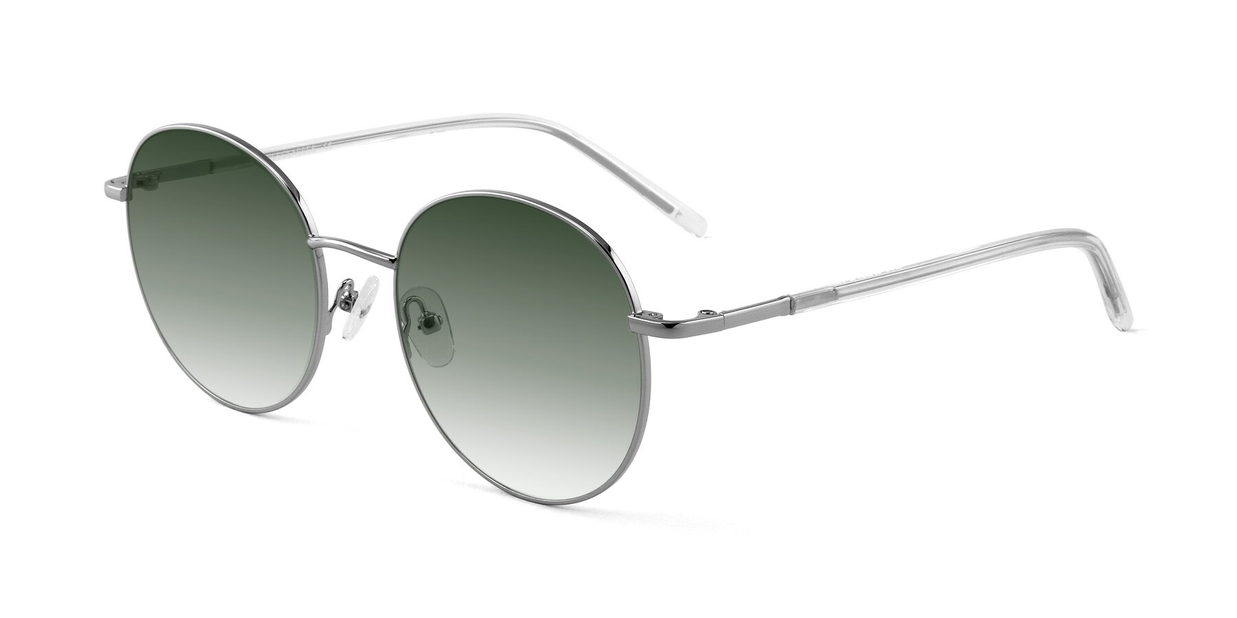 Angle of Cosmos in Silver with Green Gradient Lenses