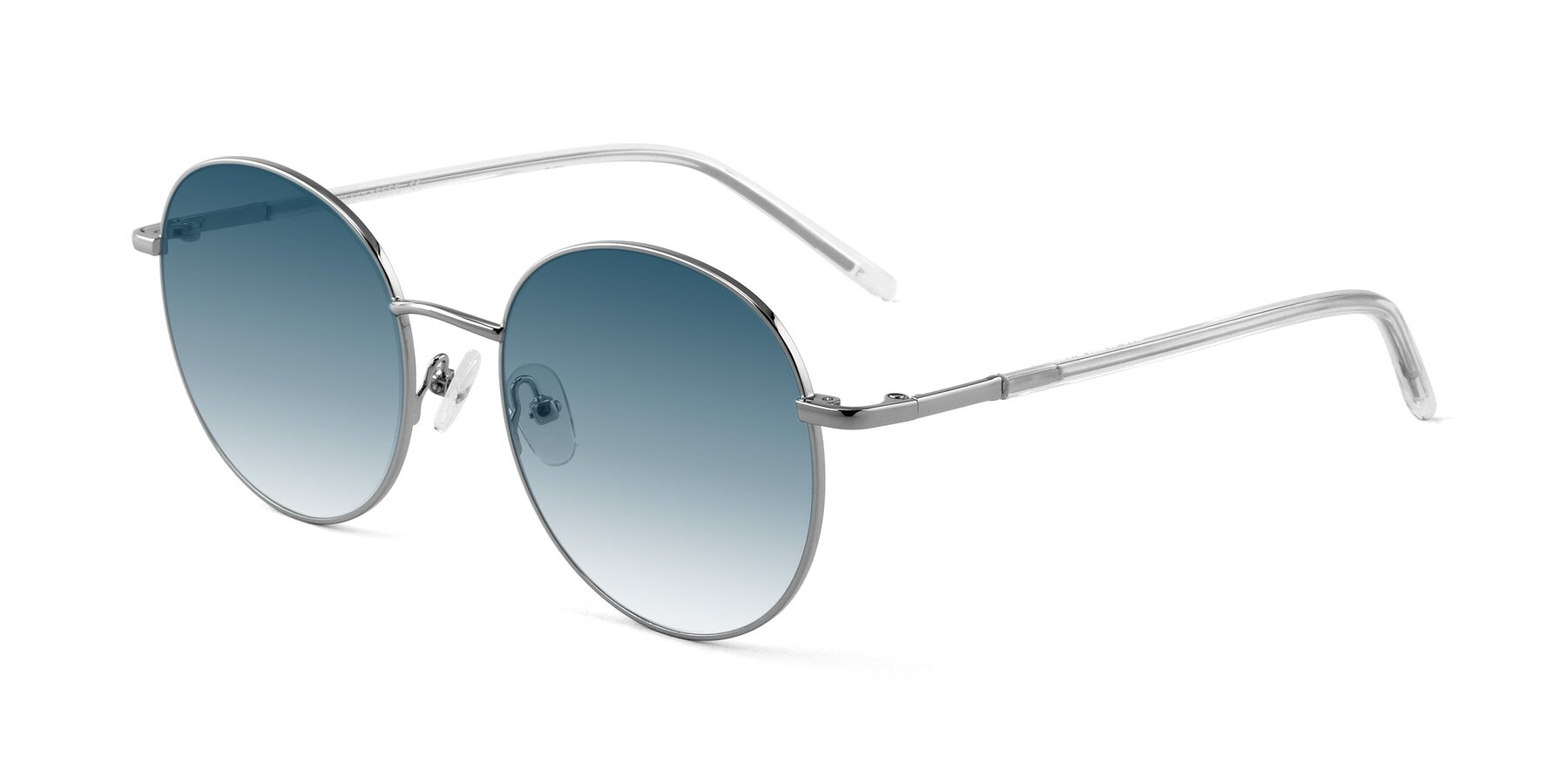Angle of Cosmos in Silver with Blue Gradient Lenses