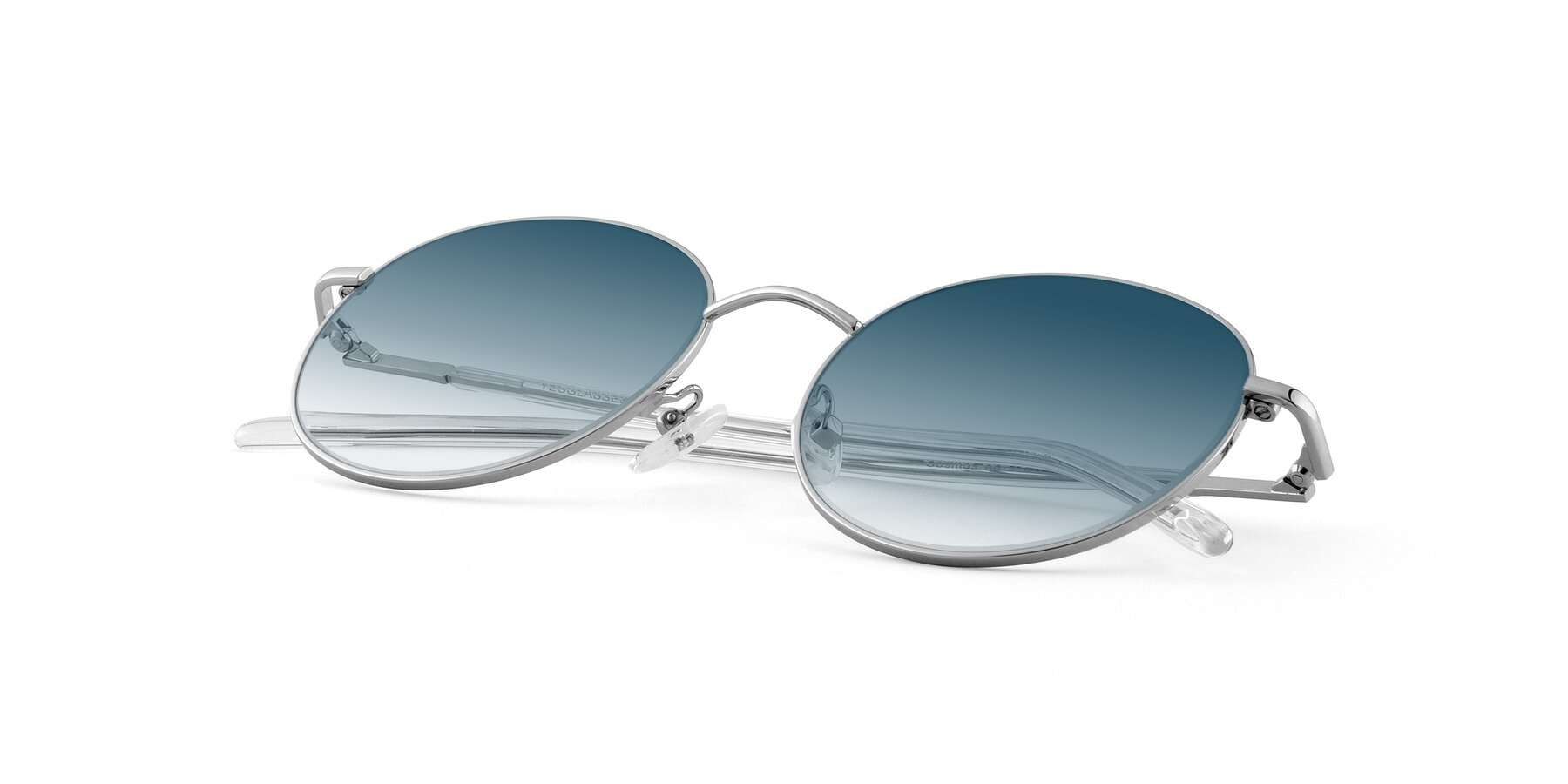 View of Cosmos in Silver with Blue Gradient Lenses