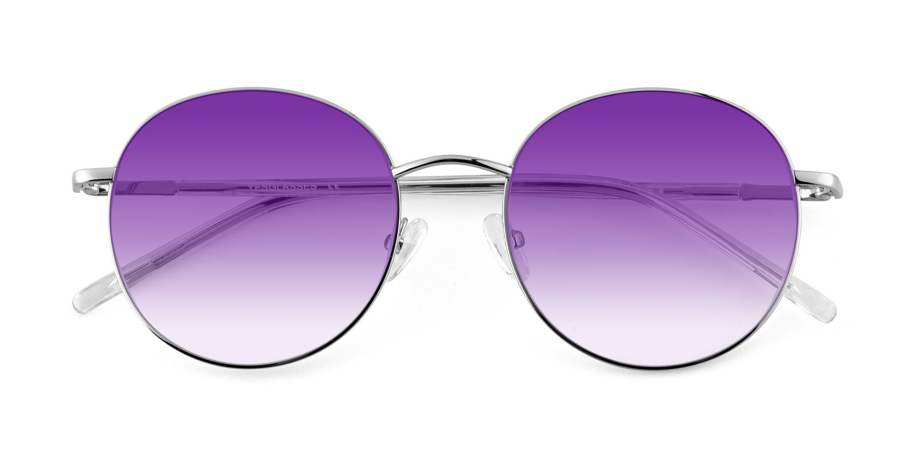 Folded Front of Cosmos in Silver with Purple Gradient Lenses