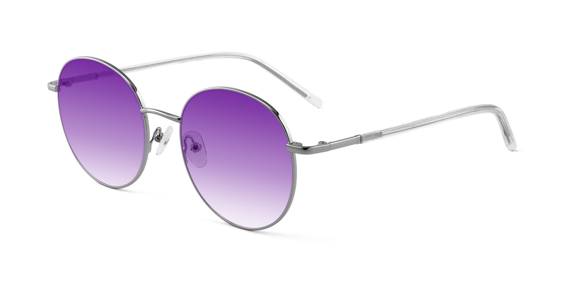 Angle of Cosmos in Silver with Purple Gradient Lenses