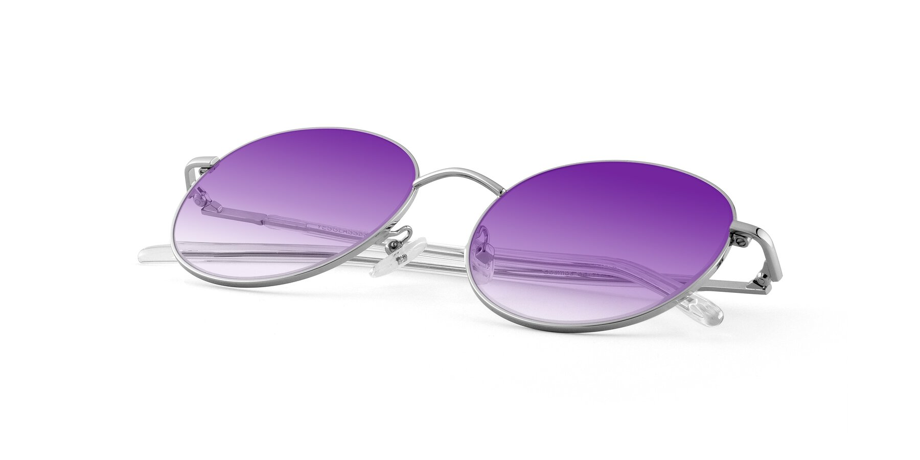 View of Cosmos in Silver with Purple Gradient Lenses
