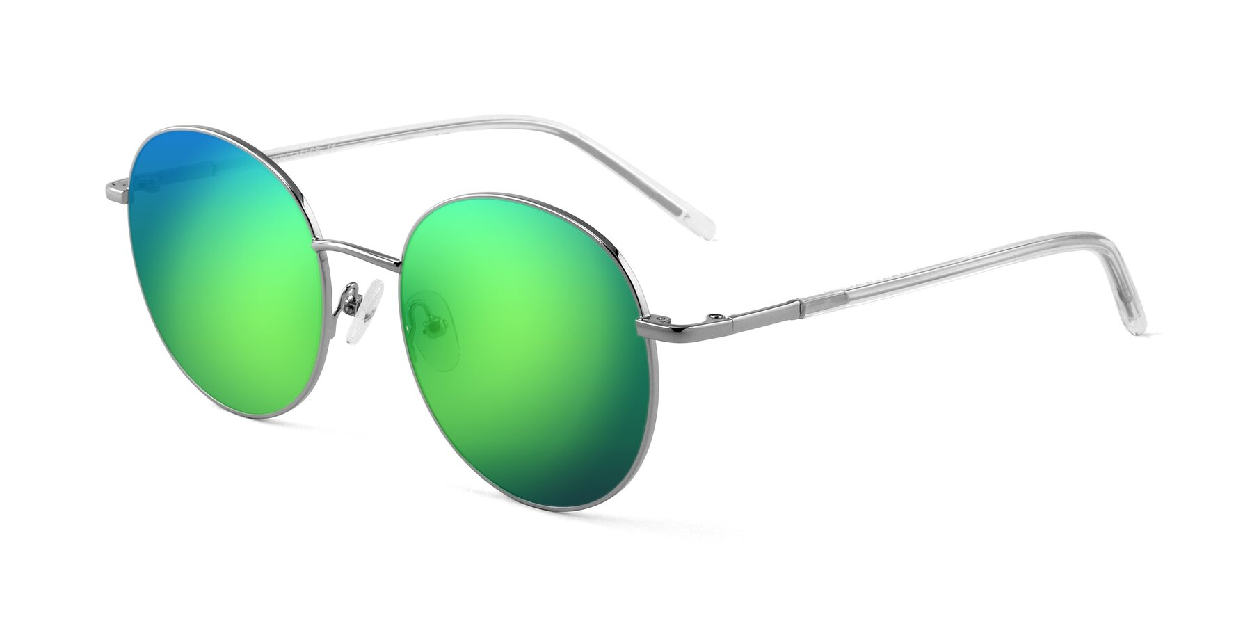 Angle of Cosmos in Silver with Green Mirrored Lenses