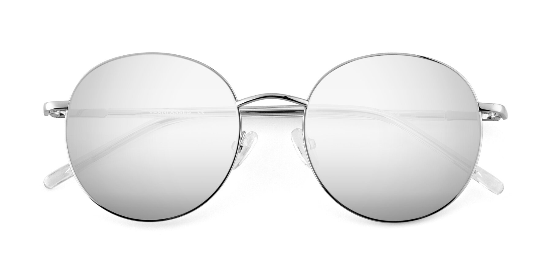 Folded Front of Cosmos in Silver with Silver Mirrored Lenses