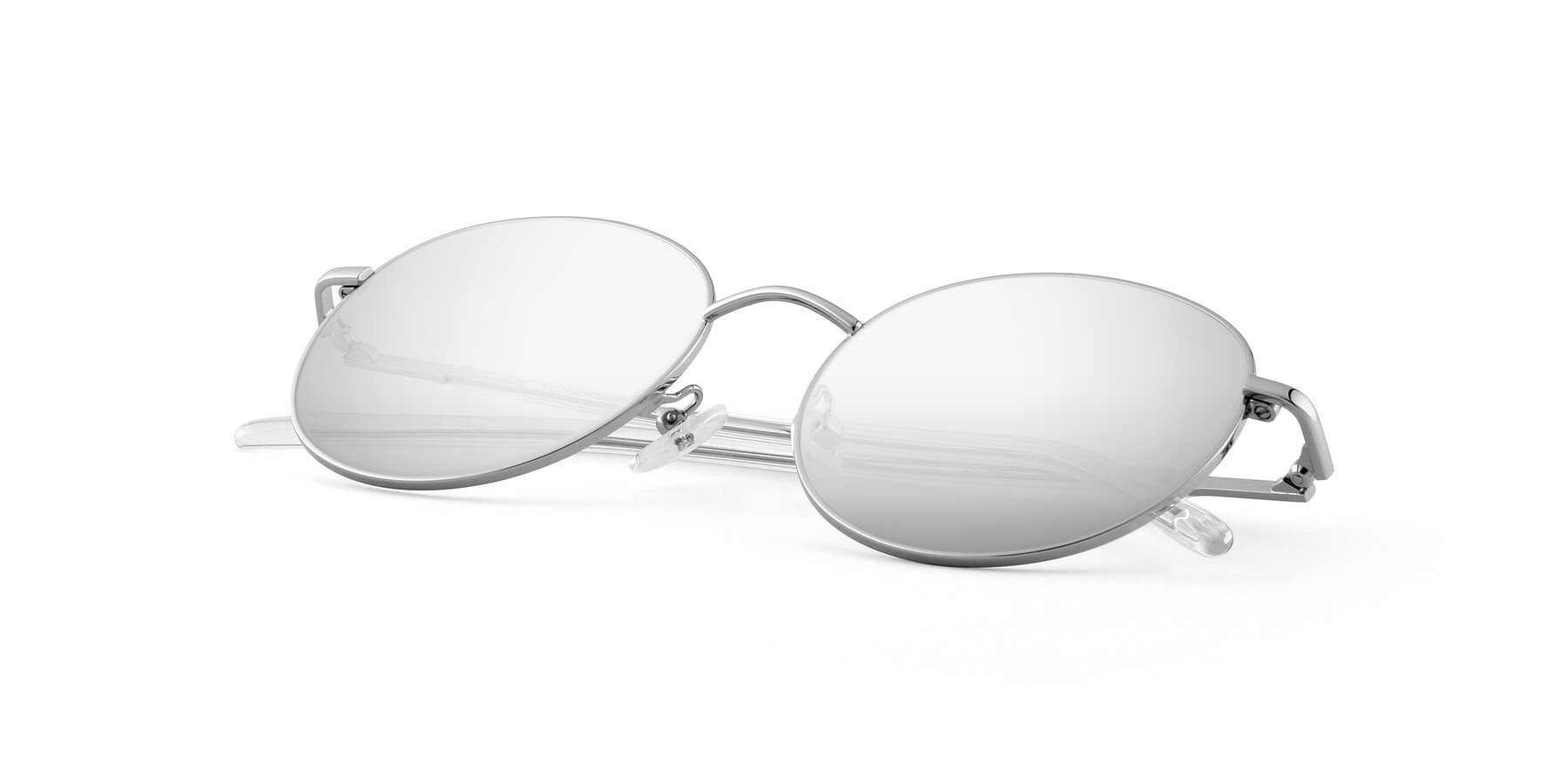 View of Cosmos in Silver with Silver Mirrored Lenses
