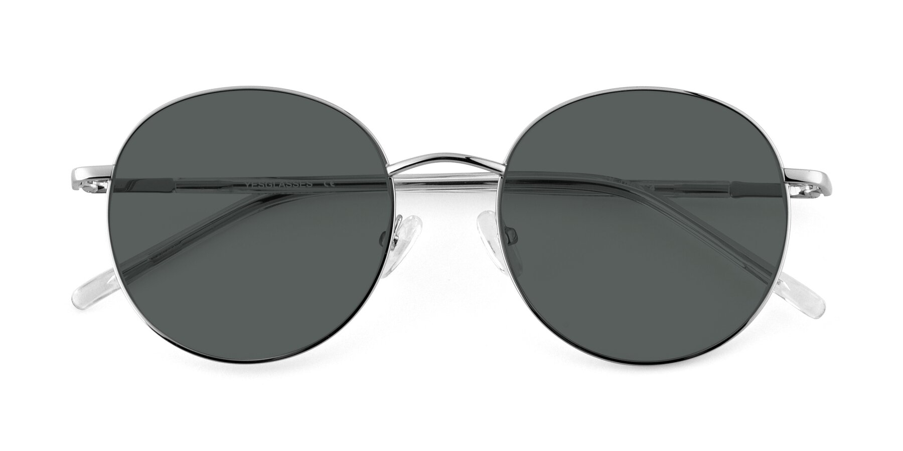 Folded Front of Cosmos in Silver with Gray Polarized Lenses