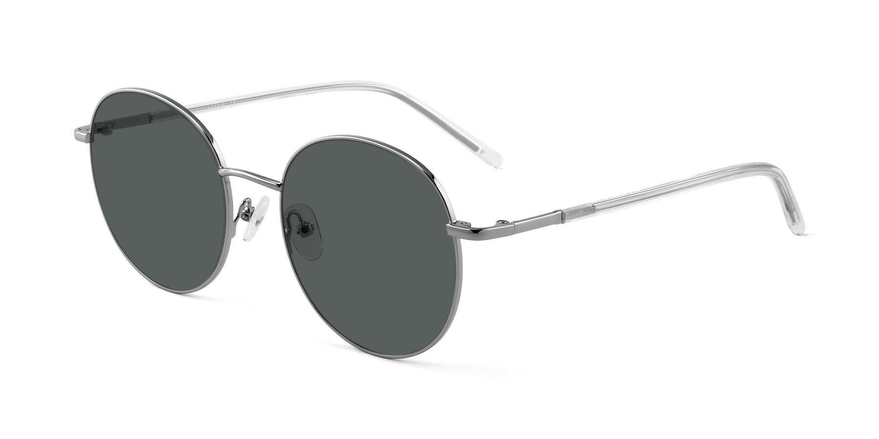 Angle of Cosmos in Silver with Gray Polarized Lenses