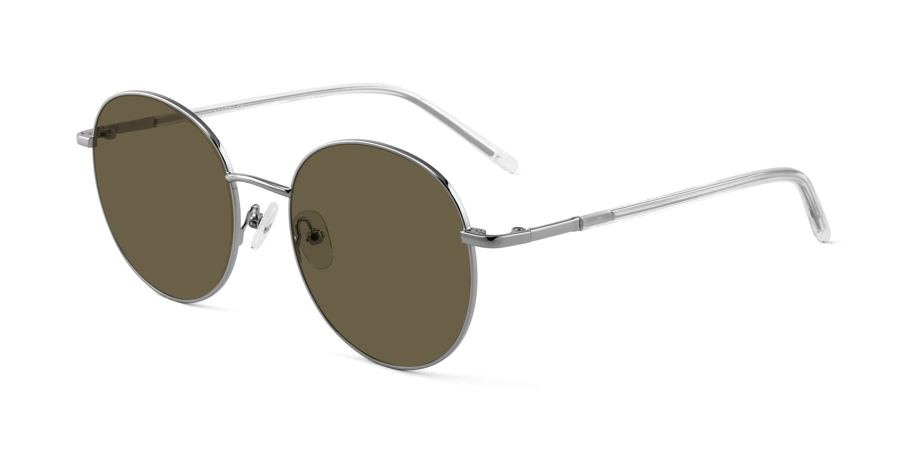 Angle of Cosmos in Silver with Brown Polarized Lenses