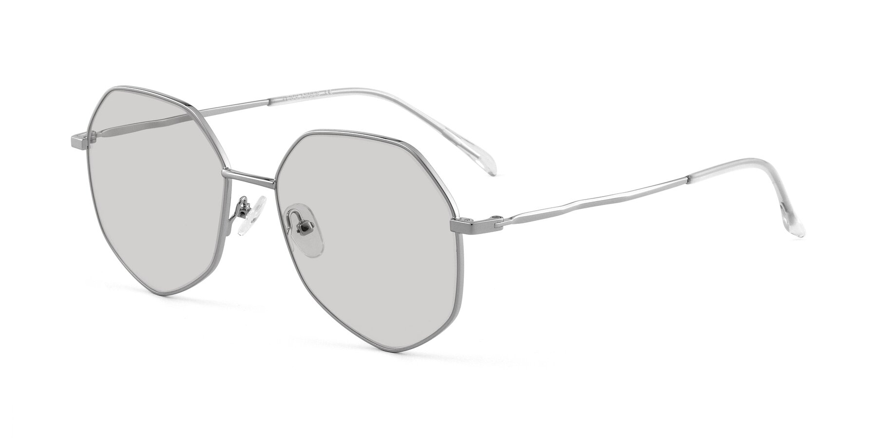 Angle of Sunshine in Sliver with Light Gray Tinted Lenses