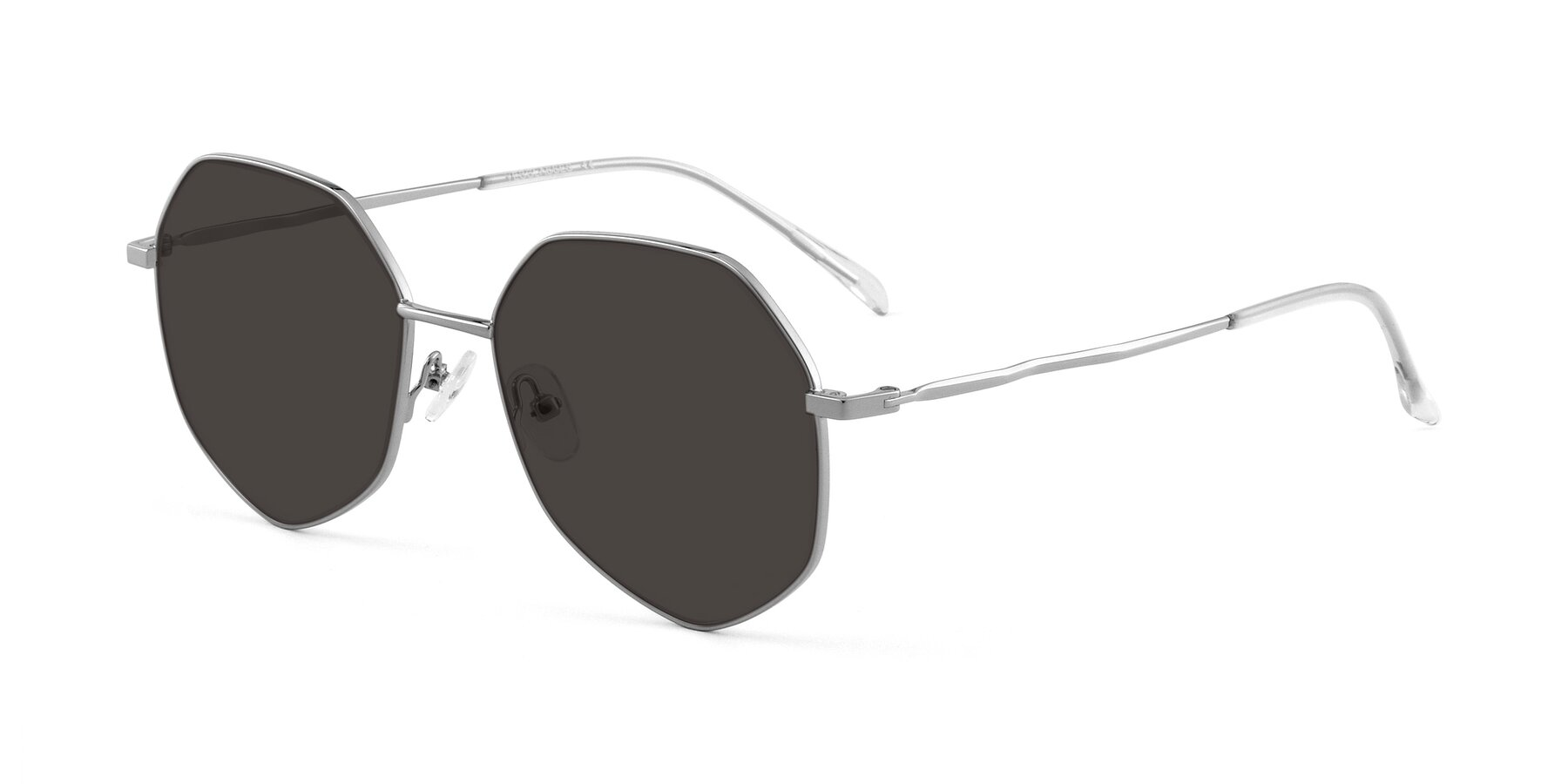 Angle of Sunshine in Silver with Gray Tinted Lenses