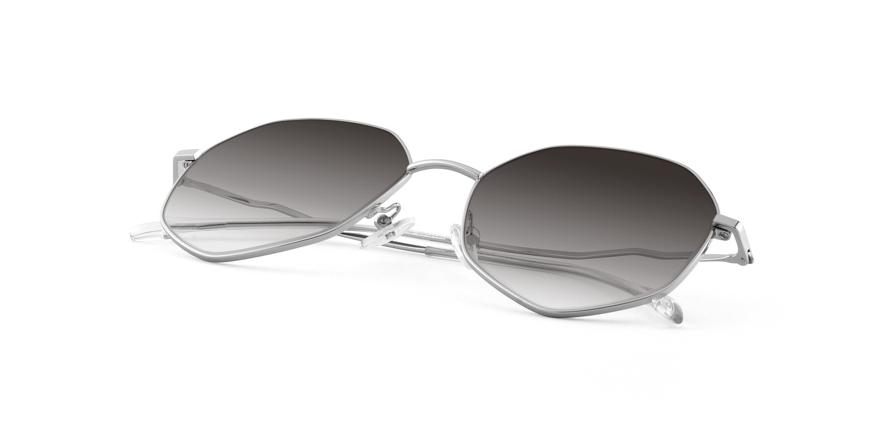 View of Sunshine in Silver with Gray Gradient Lenses