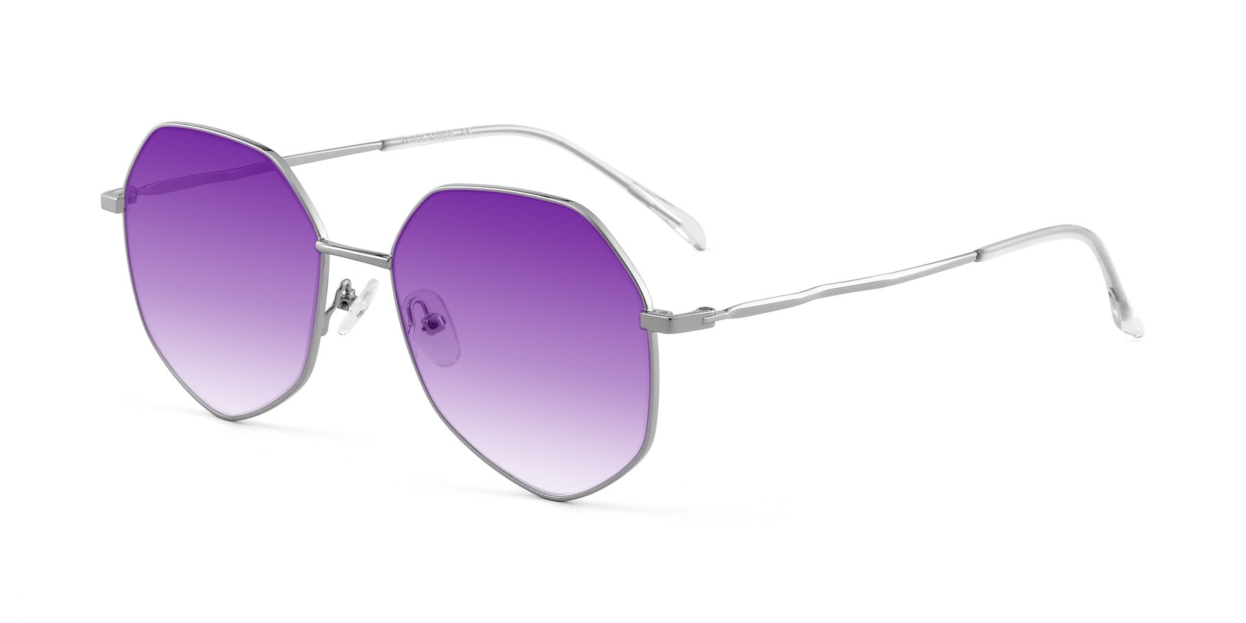 Angle of Sunshine in Silver with Purple Gradient Lenses