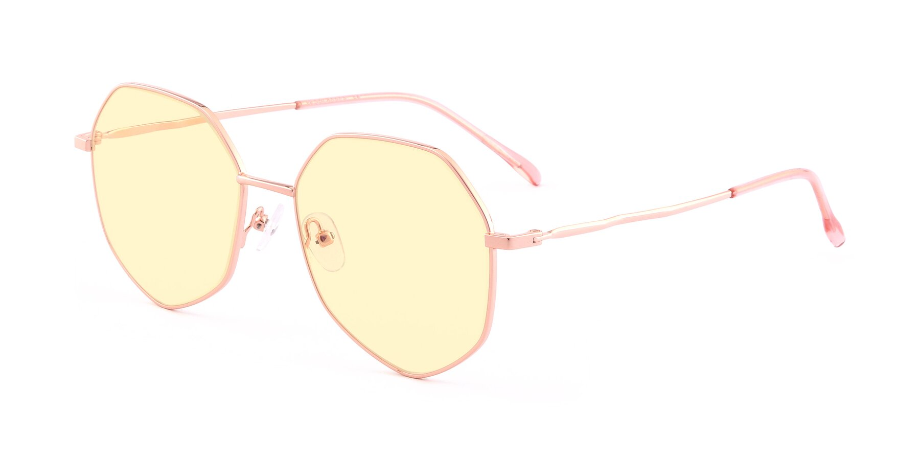 Angle of Sunshine in Rose Gold with Light Yellow Tinted Lenses