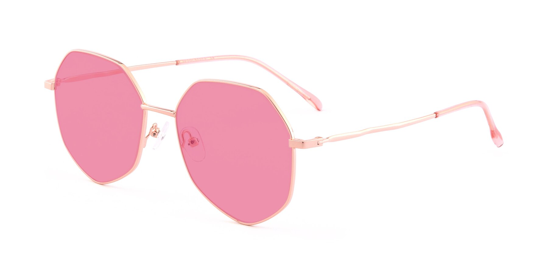 Angle of Sunshine in Rose Gold with Pink Tinted Lenses