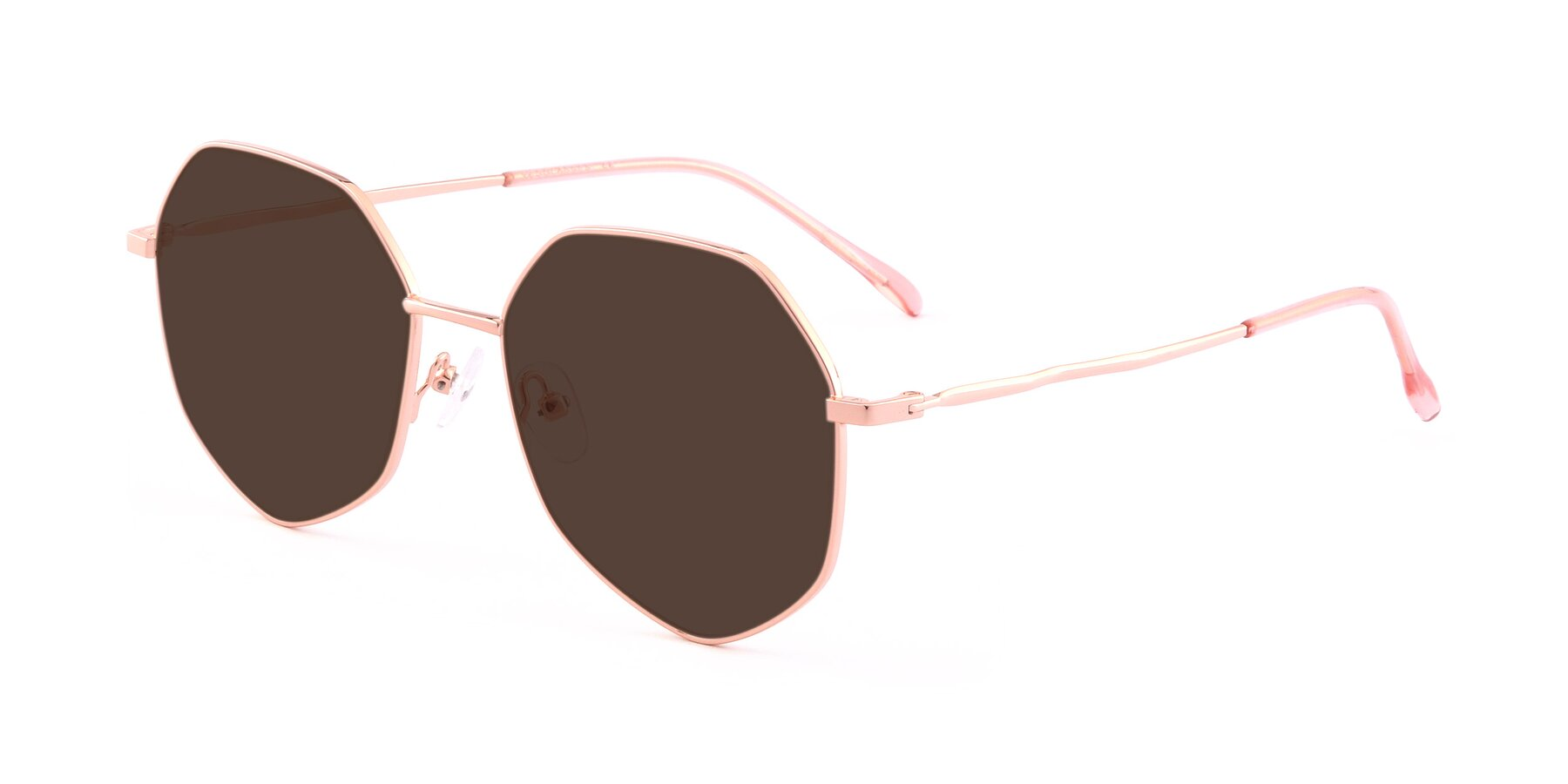 Angle of Sunshine in Rose Gold with Brown Tinted Lenses