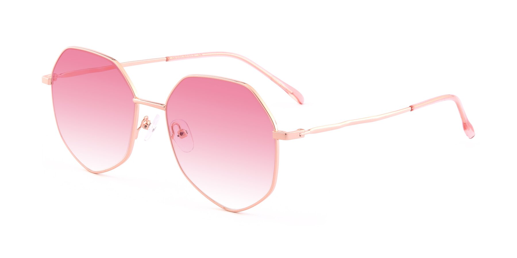 Angle of Sunshine in Rose Gold with Pink Gradient Lenses