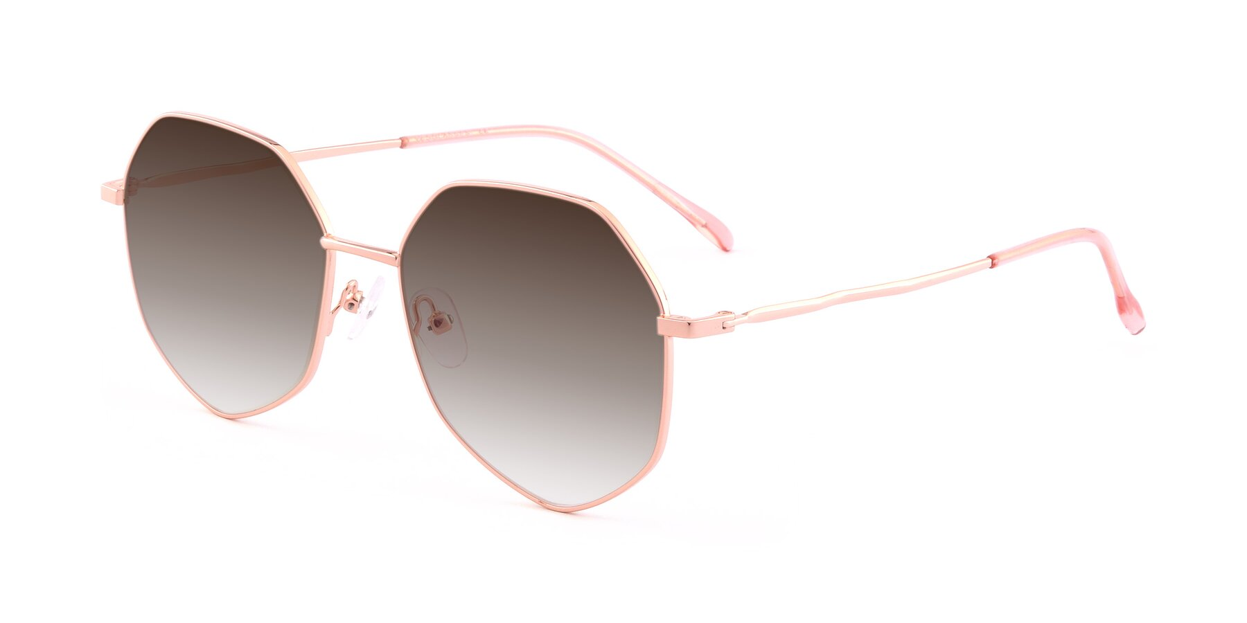 Angle of Sunshine in Rose Gold with Brown Gradient Lenses