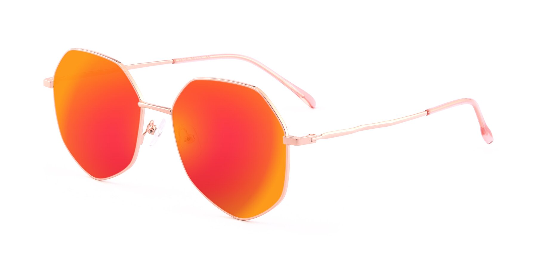Angle of Sunshine in Rose Gold with Red Gold Mirrored Lenses