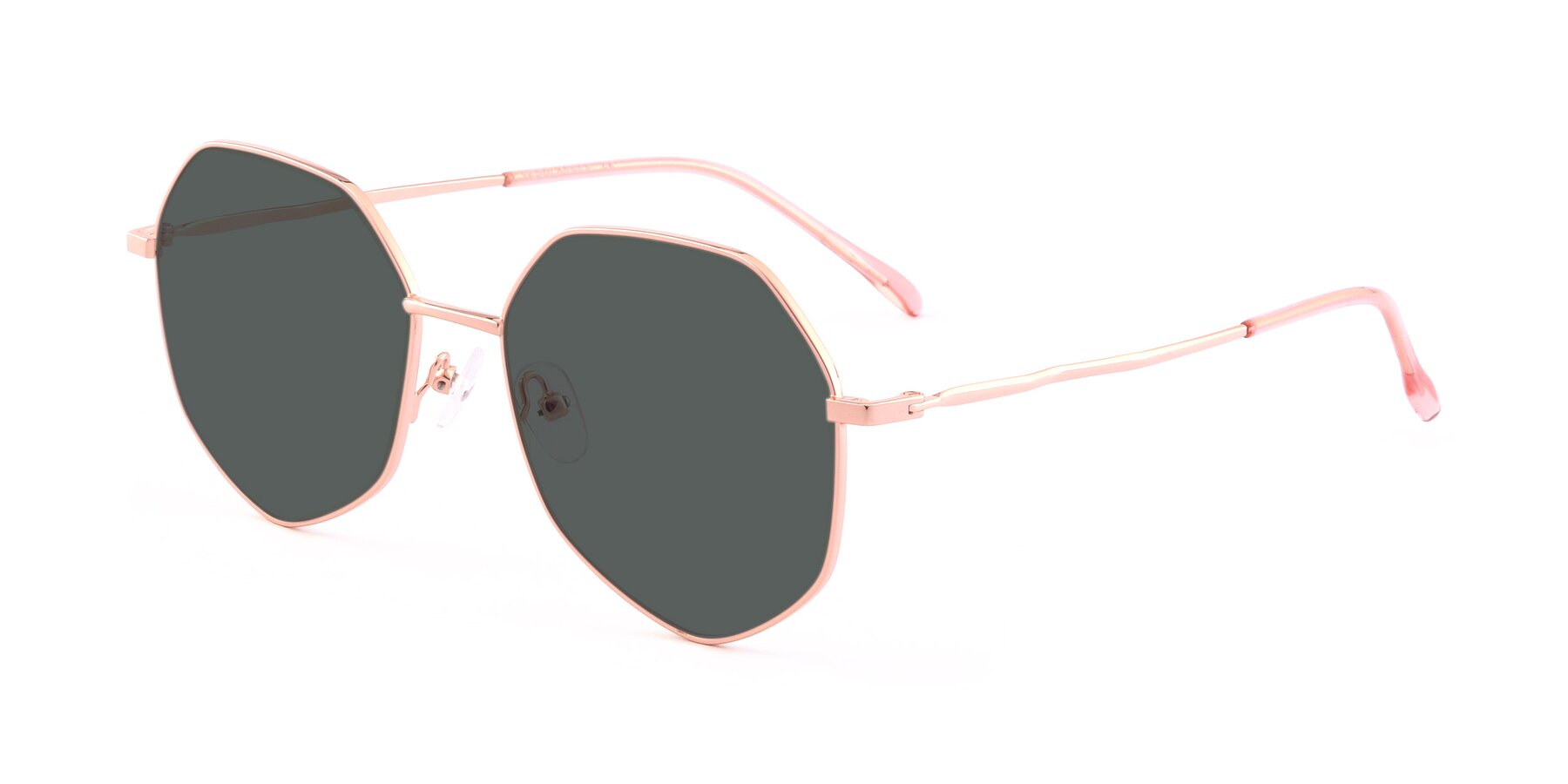 Angle of Sunshine in Rose Gold with Gray Polarized Lenses