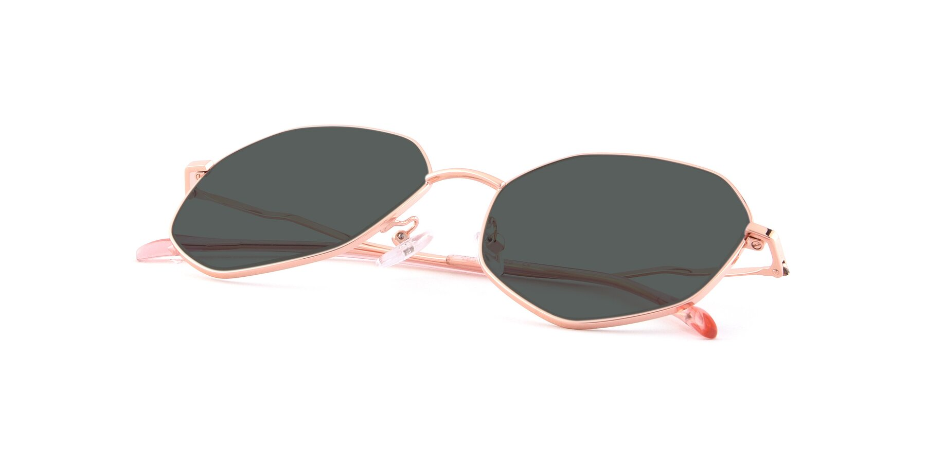 View of Sunshine in Rose Gold with Gray Polarized Lenses