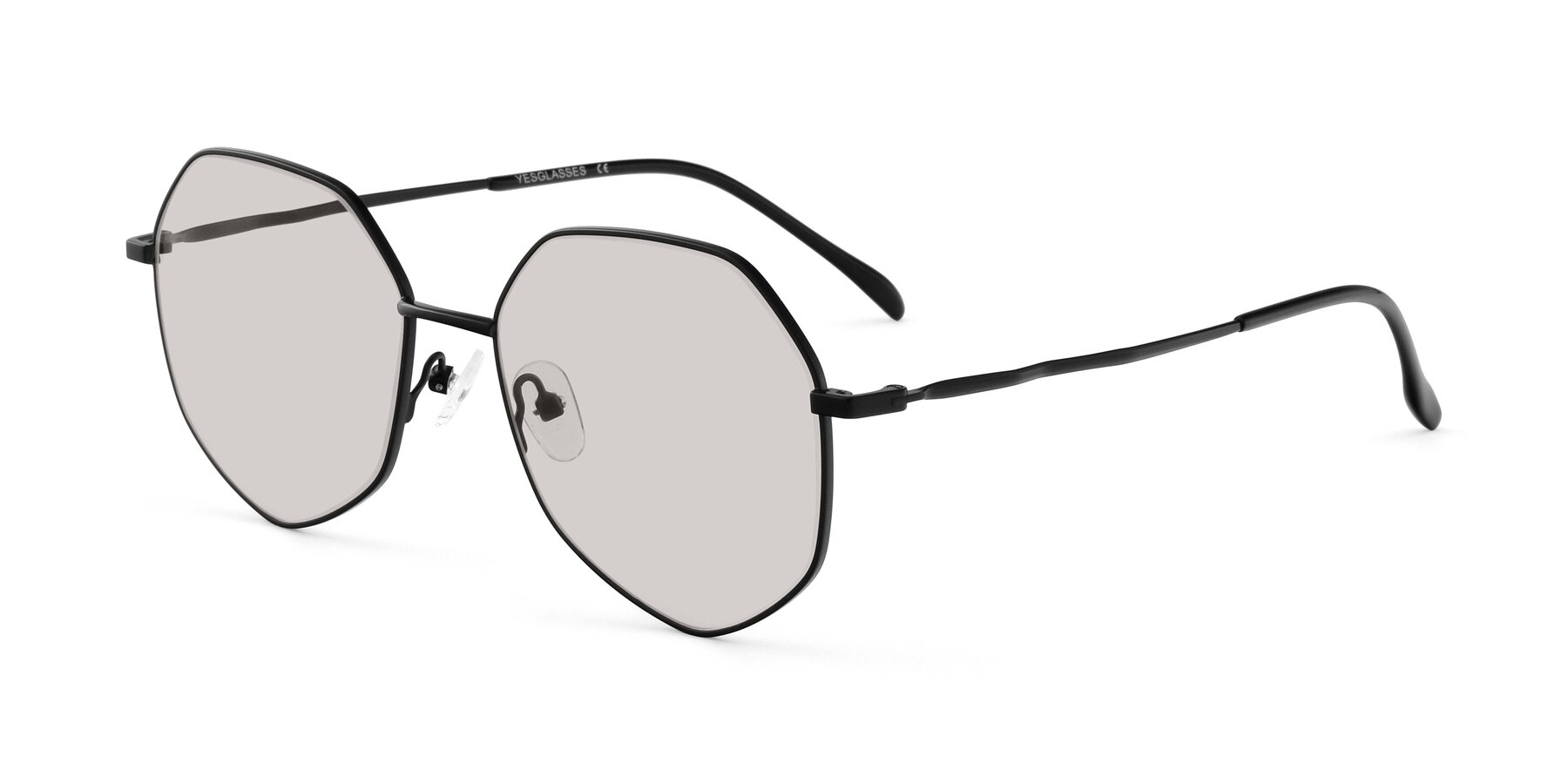 Angle of Sunshine in Black with Light Brown Tinted Lenses