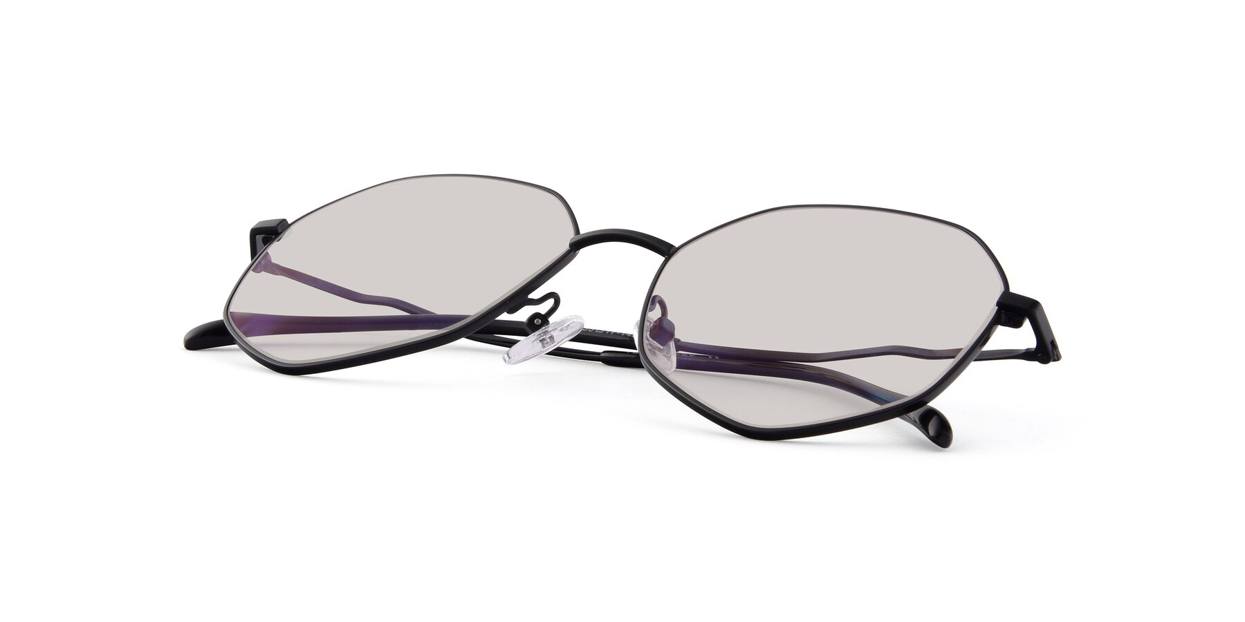 View of Sunshine in Black with Light Brown Tinted Lenses