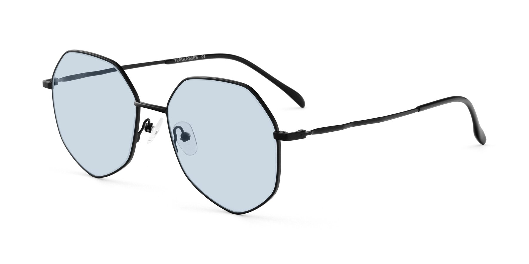 Angle of Sunshine in Black with Light Blue Tinted Lenses