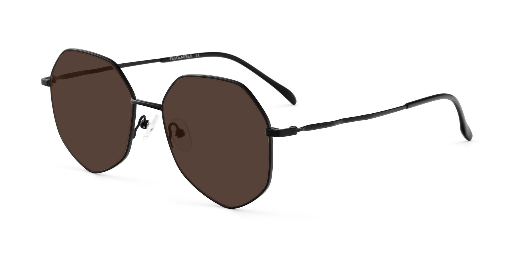 Angle of Sunshine in Black with Brown Tinted Lenses
